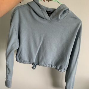 Light Blue/grey Cropped Hoodie PACSUN S